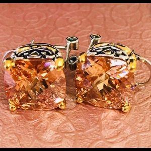 Park Lane Golden Topaz Signature Clip Earrings